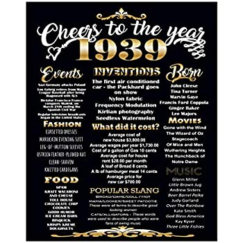 Amazon Com Lucia And Luciana 80th Birthday Poster 1939