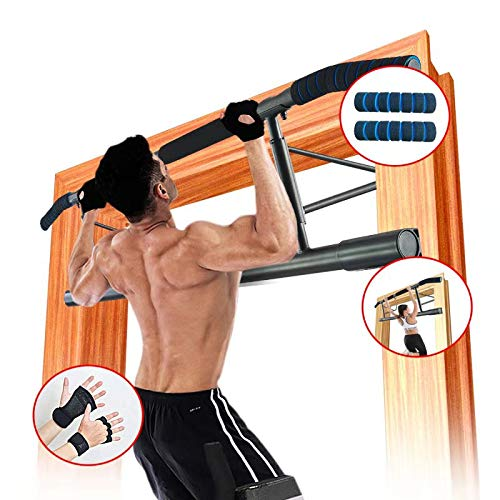 AnrayDiroct Pull Up Bar/Chin Up Bar Doorway No Screw, Home Gym Fitness Bar with Wrist Wraps for Men&Women