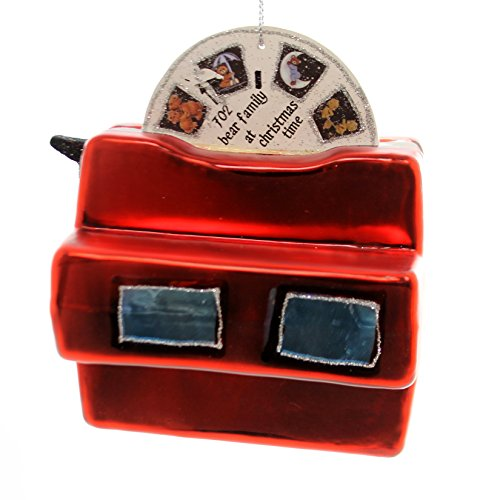 Retro Look Red 3D Viewfinder 4.5 Inch Glass Holiday Christmas Ornament