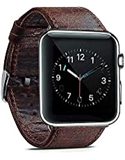 HOUSON 42mm Leder Band/Armband Ersatzarmband für Apple Watch iWatch Series 3, Series 2, Series 1, Apple Watch Sport Edition und Nike+, Uhrenarmband Kaffeebraun