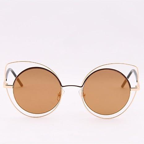 Eizur Donne Occhiali Da Sole Occhi di Gatto Occhiali Eyewear Retro A Forma Di Freccia Specchio Sunglasses UV400 con Caso - Rosa + Oro MA7L1g