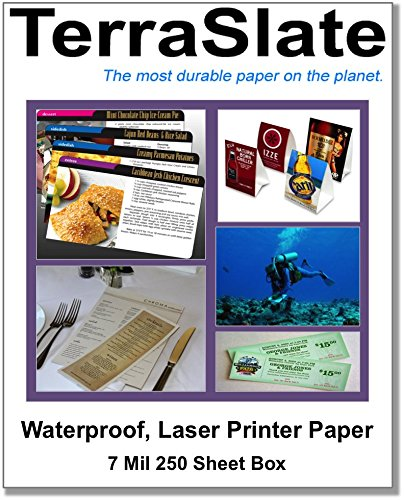 250 Sheet Box of 7 Mil TerraSlate Paper 8.5' x 11' Waterproof Laser Printer/Copy Paper