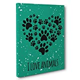 I Love Animals Canvas Wall Art