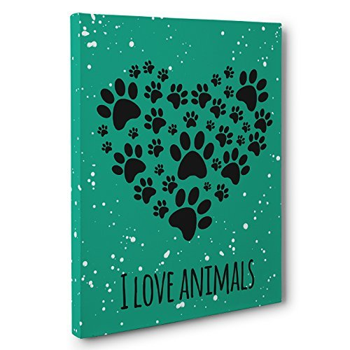 I Love Animals Canvas Wall Art
