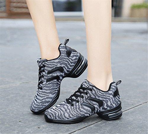 coreanos la cuadrado de TMKOO mujeres los danza 2017 nuevas zapatos los de los amp; zapatos de dan de señoras de las cojín zapatos Las del deportes Gray zapatos los de aire del de los de tacón alto 8pawOqx8