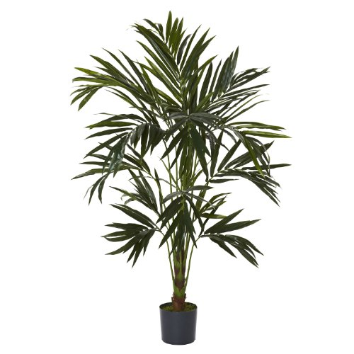 Nearly Natural 5341 Kentia Silk Tree, 6-Feet, Green (Palm Tree Cascade)
