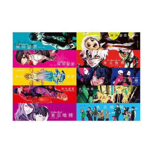 Tokyo Ghoul Clear Bookmark x10 Kaneki Toka Juzo Rize Jump Shop Limited Rare F/S