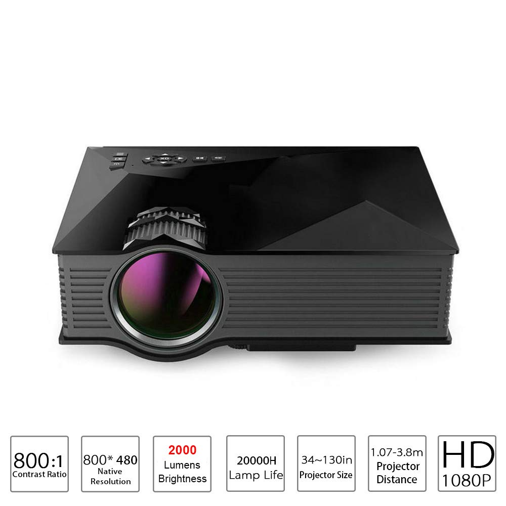 Mini proyector WiFi LED Home Home Theater Soporte para proyector ...