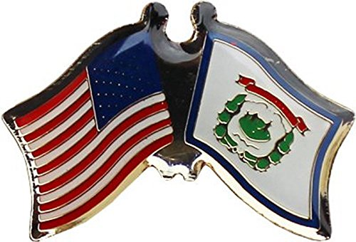 AES Wholesale Pack of 24 USA American State West Virginia Flag Bike Hat Cap Lapel Pin