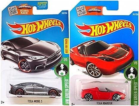Amazon Com Hot Wheels Tesla Model S And Tesla Roadster Hw Green