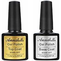 Annabelle Base & Top coat Smalto Semipermanente Nail Polish UV LED Gel Unghie (Kit di 2pcs 7.3ML/pc) 011