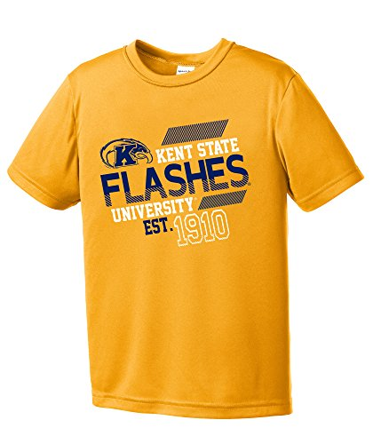 NCAA Kent State Golden Flashes Youth Boys Offsides Short sleeve Polyester Competitor T-Shirt, Youth -