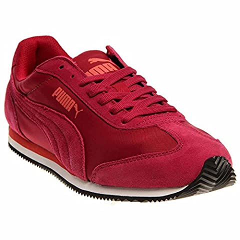 PUMA Rio Speed Nylon Sneaker,Cerise/White,11 B US (Mens Puma 76 Runner)