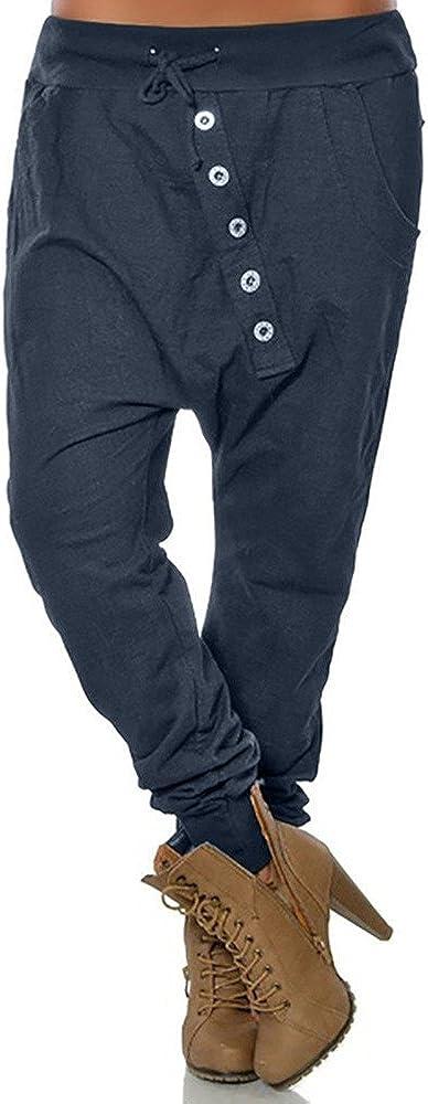 Dogzi Mujer Pantalones Tallas Grandes Boton Pies Pequenos Pantalones Mujer Moda Hipsters Haren Pantalones Pololos Holgado Pantalones Vaquero Pantalones Lapiz S 5xl Mujer Pantalones