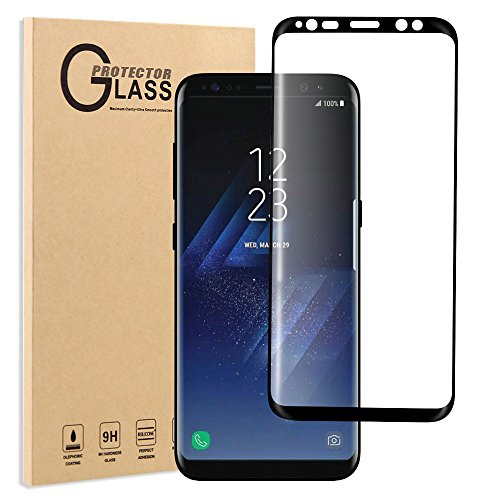 Screen Protector for Galaxy S8, FayTun Tempered Glass Screen Protector for Samsung Galaxy S8, 3D Curved, Case Friendly, HD Clear, Anti-Scratch, Fingerprint, Bubble Free Screen Protector for Samsung S8