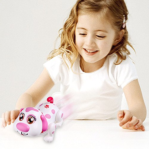 Electronic Pet Dog Interactive Puppy - Robot Helen Responds to Touch, Walking, Chasing and Fun Activities.