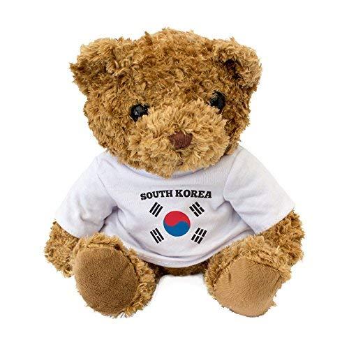 Oso de peluche con la bandera de Corea del Sur – regalo para fanáticos de Corea del Sur