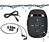 8GB swimming mp3 player with short cord headphones(3 type swimbuds), one more audio extension cord for sort of sports,Shuffle feature -Black