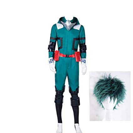 Amazon.com: Mens Midoriya Izuku Deku Cosplay Costume Boku ...