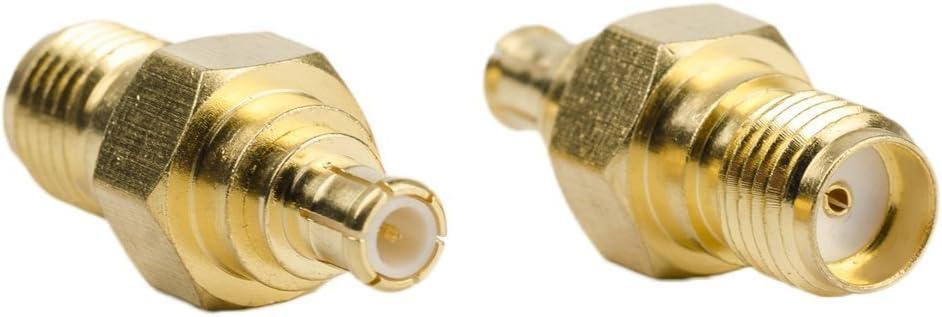 Paquete de 2 conectores SMA hembra a MCX macho para antena ADR dongle NooElec SDR receptor