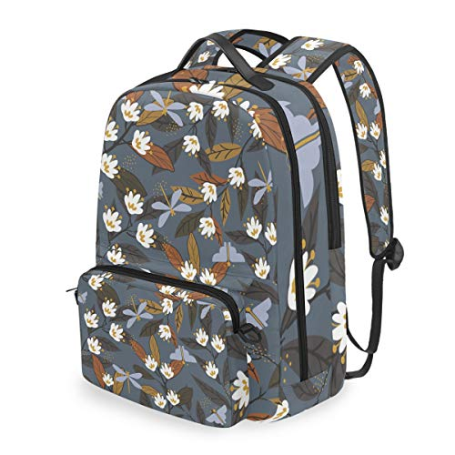 Animal Dragonfly Shoulder Backpack Messenger Crossbody Laptop Bag Student Bookbags for Kid Girls Boys ()
