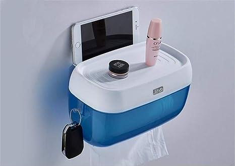 Chinese style shop MMP Baño/Inodoro Estante Porta Papel higiénico Porta Toallas, Azul,