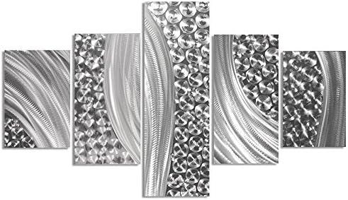 Abstract Metal Art 'Columnar Riverbed'