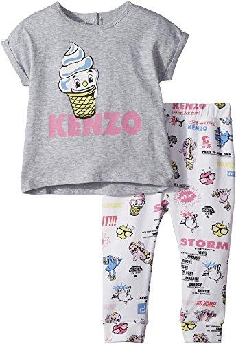 Kenzo Kids Baby Girl's Food Print Two-Piece Set (Toddler) White by Kenzo Kids