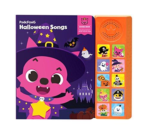 Pinkfong Children's Halloween Songs Sound Book, Purple/Orange, 8.7