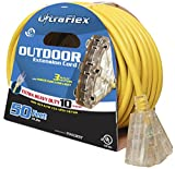 Ultra Flex 140025 Extension Cord 15.6m SJTW 10/3 Triple Outlet Rated to 300V