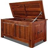 Holztruhe Auflagenbox Couchtisch Tischtruhe Sitzbank Aufbewahrungsbox Holzkiste Truhe 85x44x48cm