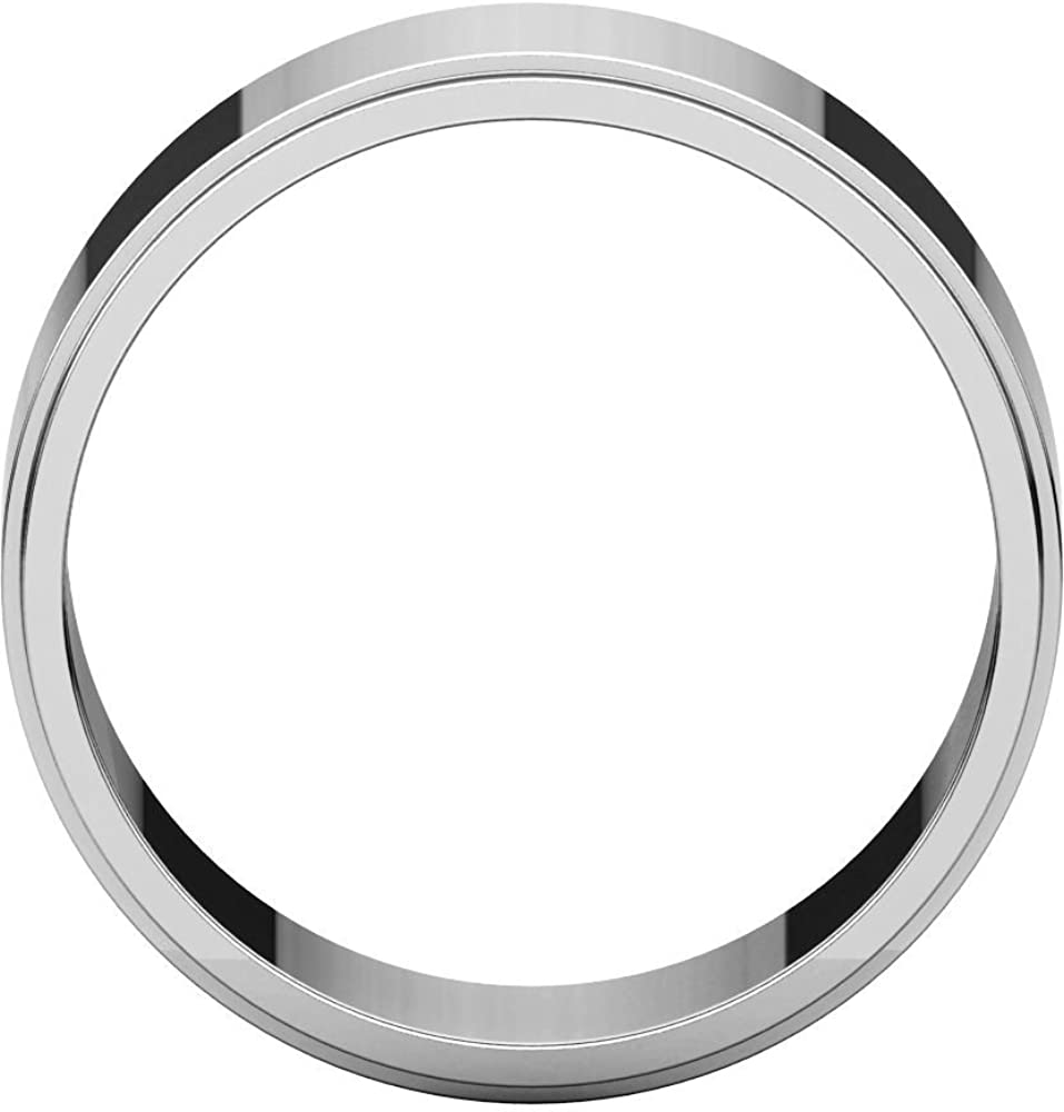 Sterling Silver 8mm Flat Edge Wedding Band for Men Size 10