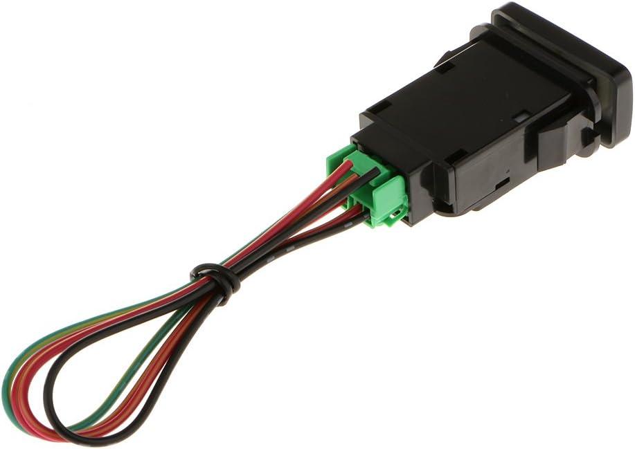 Orange Almencla LED Lichtleiste Dash Push Schalter F/ür Toyota Hilux Landcruiser W//Kabelbaum