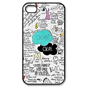 Unique Okay John--The Fault in Our Stars Awesone Durable PC Case Cover For iPhone 4/4s