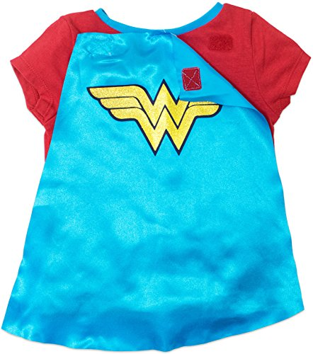 Wonder Woman Toddler Girls' Costume Tee Shirt with Cape Red (5T) by Warner Bros. (Image #2)