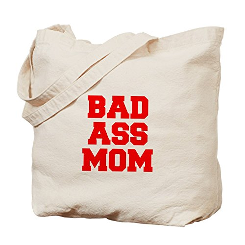 CafePress Tote Bag - bad-ass-mom-FRESH-RED Tote Bag by CafePress