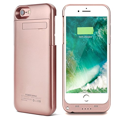 iPhone 7 Battery Case, Kattiettery Charger Case for iPhone 7/6S/6 3200mAh Portable Charger Rechargeable External Battery Pack Charging Cases for iPhone 7/6S/6 - Rose Gold