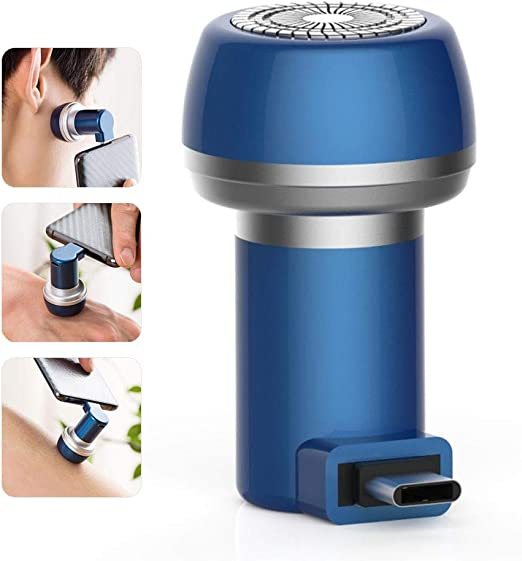 LayOPO Mini afeitadora eléctrica, afeitadora rotativa portátil de ...