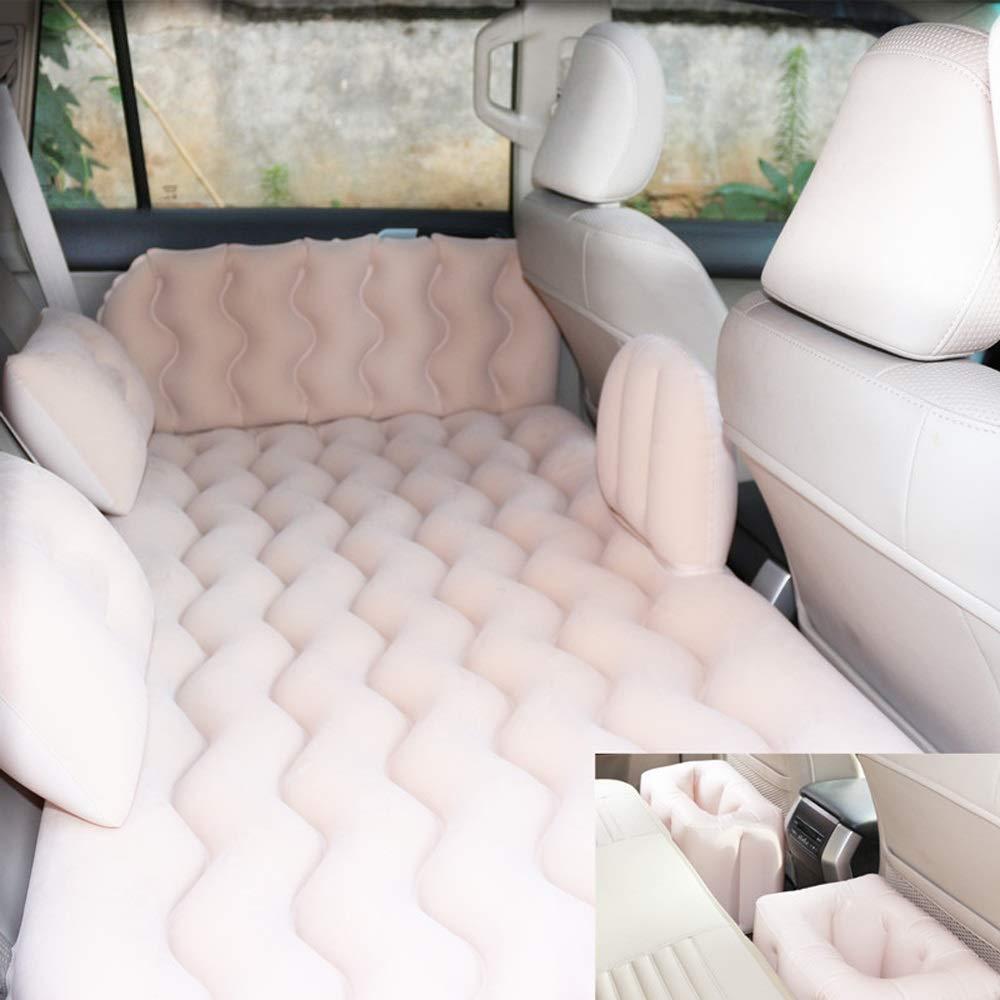 Beige  TTBed Coussin Gonflable de Voyage d'air extérieur de lit d'air de Voyage de SUV de Voyage portatif de siège arrière de Matelas pneumatique de Voiture