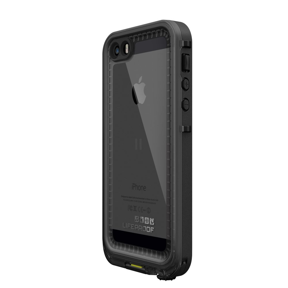 LifeProof NÜÜD SERIES Waterproof Case for iPhone 5/5s/SE - Retail Packaging - BLACK (BLACK/SMOKE) by LifeProof (Image #4)