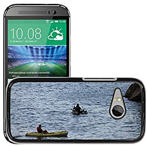 Hot Style Cell Phone PC Hard Case Cover // M00309658 Fishing Sport River Adventure Boat // HTC One Mini 2 / M8 MINI / (Not Fits M8)