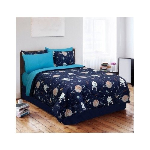 Kids Boys Teen Comforter Bed Set Bedding Navy Blue