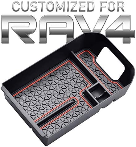 Proadsy Center Console Organizer Tray Accessoies with Coin Holder for All 2019 Toyota RAV4