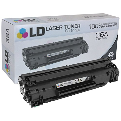 LD Compatible Replacement for HP 36A/CB436A Black Toner Cartridge for use in HP LaserJet M1522n MFP, M1522nf MFP, P1505 & P1505n Printers