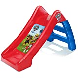 "Paw Patrol Kids/Childrens Official Junior Play Slide Outdoor/Indoor 60cm/24"" for Baby, Infant and Toddler Boys 10 Months+ Small Plastic Childs Garden Playground Toy Lightweight & Portable Red/Blue"