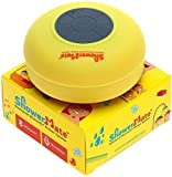 Shower-Mate S4 Water Resistant Built-in Hands-Free Bluetooth Portable Shower Speaker for Smartphones and Tablets - Yellow
