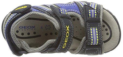 Geox Jr Sandal Strada a, Sandalias Para Niños Azul (Navy/Yellow)