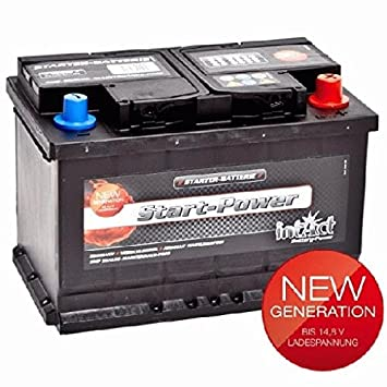 INTACT premium Power Carbon pp75mf 75ah 12V Car Battery starterbatterie NEW