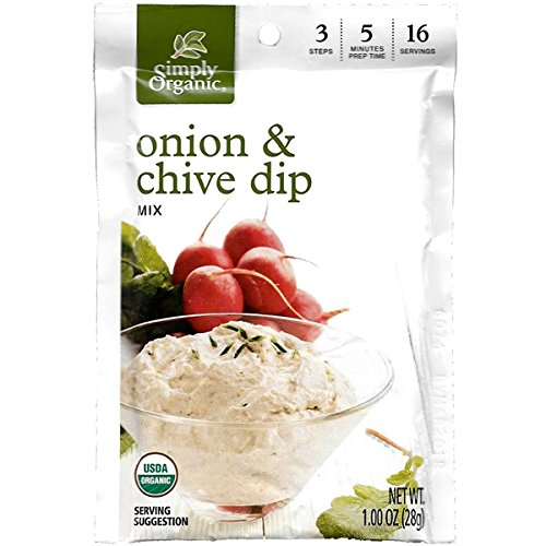 Simply Organic Onion & Chive Dip (Pack of 3) (Simply Organic Organic Chips)