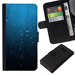 All Phone Most Case / Oferta Especial Cáscara Funda de cuero Monedero Cubierta de proteccion Caso / Wallet Case for Samsung Galaxy Core Prime // Water Drops